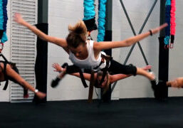 Astro Durance, bungee fitness, group exercise class, group workout
